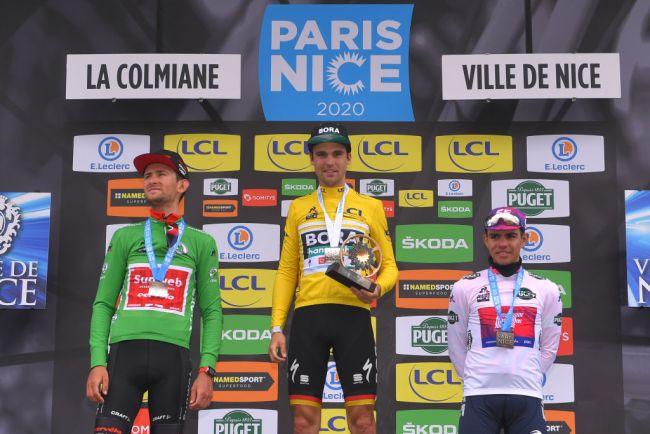Il podio della Parigi-Nizza 2020 (Getty Images Sport)
