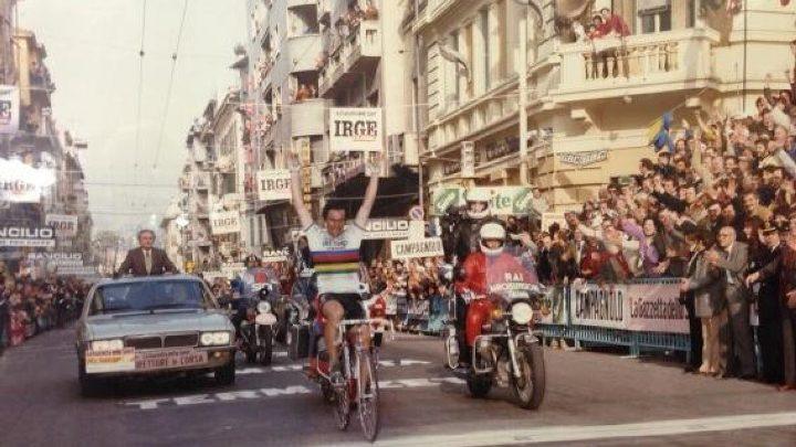 Giuseppe Saronni vince la Milano-Sanremo del 1983