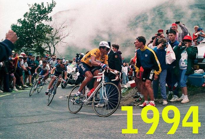 Tour 1994, Indurain in azione sullAlpe dHuez (wikipedia)