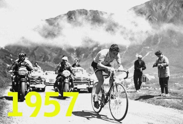 Anquetil allattacco sul Tourmalet nella tappa di Pau che sarà successivamente vinta da Nencini (foto AFP)