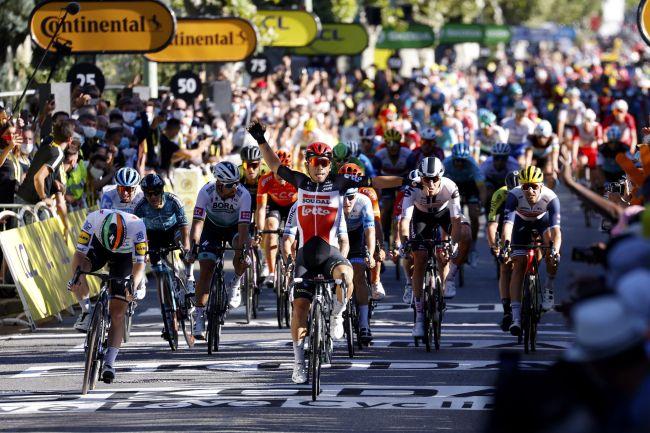 La vittoria di Ewan a Sisteron (foto Bettini)
