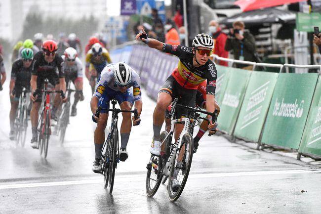 Tim Merlier vince in maglia di campione nazionale belga la vecchia Parigi-Bruxelles (foto Bettini)