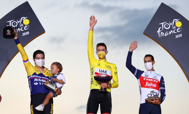 Il podio del Tour de France 2020 (Getty Images Sport)